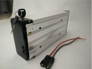 24V 15ah Li-ion Rechargeable Ebike Battery W/ Rear Rack Case & Charger