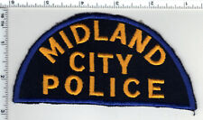 Midland City Police (Michigan)  Rare Felt Shoulder Patch from the 1970's