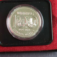 1974 Canadian Silver Dollar, Winnipeg 100 Years