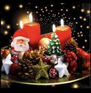 CHRISTMAS 3D NOVELTY TEA LIGHT CANDLES DECORATIONS 🇬🇧UK SELLER 🛺FAST AND FREE