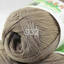 1ball×50g Soft Natural Smooth Bamboo Cotton hand Knitting Yarn 932 Mocha