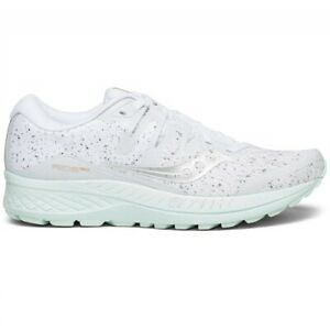 Saucony Womens Ride ISO Running Shoes - White Noise - B Width (Standard)