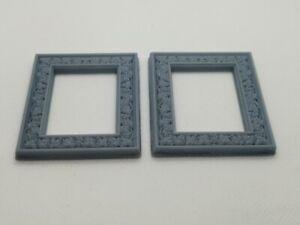 2 X Vinograd Miniature Picture Frames Miniature Dolls House (6cm x 5cm)
