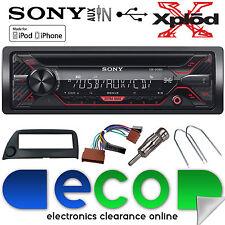 Ford KA 96-08 Sony CDX-G1200U CD MP3 USB Aux Iphone Car Radio Stereo Kit Black