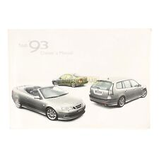SAAB 93 9-3 9400 2006MY OWNER'S MANUAL HANDBOOK 32000713 RARE GENUINE SUFFOLK