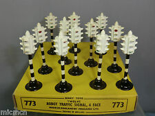 "DINKY TOYS MODEL No.47a  12 X  "" 4 FACE"" TRAFFIC LIGHTS TRADE BOX  VN MIB ""RARE"