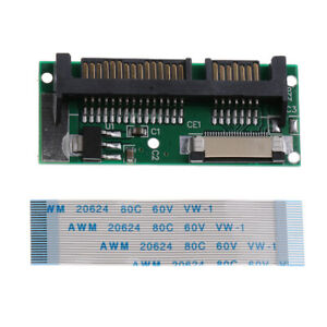"""1.8"""" ZIF LIF CE SSD HDD to 2.5inch SATA 7+15 Pin Converter Card with Cable"""
