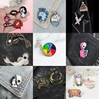 Pin Brooches Backpack Badges Different Hard enamel lapel Hat Bag Jeans Goth Punk