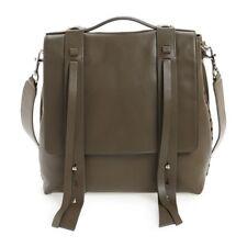 All Saints Fin Multi Way Shoulder Bag Backpack Dark Khaki One Size