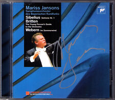 Mariss JANSONS Signiert SIBELIUS Symphony No.1 BRITTEN Young's Person's Guide CD