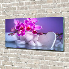 HD Glasbild EG4100500933 ORCHIDEE BLÜTE BLAU 100 x 50 cm Wandbild FLORALES//BOTAN