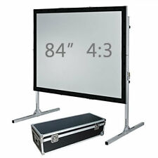 """84"""" Fast fold projection screen, Front and rear, 4:3 HD Fastfold Fixed/framed"""