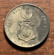 1944 Philippines 20 centavos - nice details - silver coin