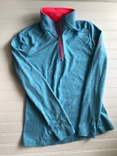 Spyder Womens 6 Heathered Turquoise Therma Stretch 1/4 Zip Pullover Shirt Jacket