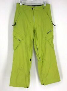 RIPZONE - MEN'S SIZE SMALL - BRIGHT GREEN 5000MM 100% NYON SNOW SKI PANTS