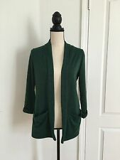 NEW Forever 21 3/4 Sleeve Solid Cardigan - Green - Size M (made In U.S.A)
