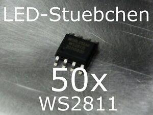 50x WS2811 LED-Treiber IC SO-8 SMD SMT (Pixel, Stripes, KSQ)