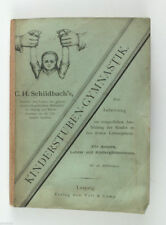 1880 Germany Kindergarden Orthopedic Children GYMNASTIC Manual Book Illustrated