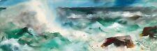 "EDGAR WHITNEY..original  hand signed watercolor...""OCEAN SPRAY"""