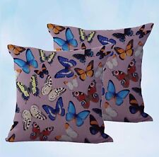 US Seller-set of 2 decorative throw pillow retro boho butterfly cushion cover