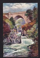 c1910 Tuck Bridge Poul a Phouca Waterfall near Dublin Ireland postcard
