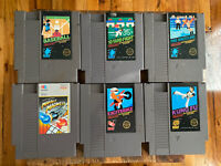 Nintendo NES 6 game lot Kung fu excitebike Mobile madness pro wrestling 10 Yard