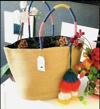 One Size Straw Color Tote Bag