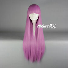 Lolita Dark Pink Long 80CM Straight Fashion Cosplay Wig with Bangs + Wig Cap