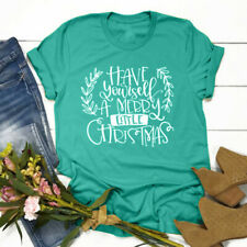 Thankful Grateful Blessed Thanksgiving Day T Shirt Casual Women Festival Tops US