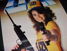 PIN UP GIRL 1970s Vintage UZI MACHINE GUN Old Israel Military Industries Sign