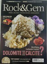 Rock & Gem April 2017 Dolomite or Calcite Carbonate Cousins FREE SHIPPING sb