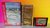 Wimbledon Championship Tennis - Sega Genesis Rare Game Tested Box 1 - 2 Players