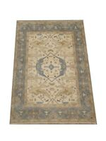 8X10 Ivory Oushak Hand-Knotted Wool Oriental Area Rug Carpet (8 x 9.9)