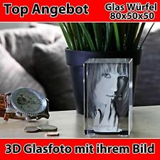 R80 Glas 3D inkl personalisierte Wunsch Gravur Muttertag Familie NEU Individuell