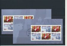 Greenland #659-660a Christmas 2013 booklet panes - very fine used (TP00003)
