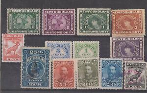 Newfoundland Rev Stamps. QV, Caribou,Stationery, Rare Money Order Stamp.Ed 8th