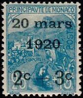 "MONACO STAMP N° 35 "" MARIAGE PRINCESSE CHARLOTTE 2C+3C SUR 25C+15C "" NEUF XX TTB"