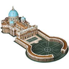 Playtastic Faszinierendes 3D-Puzzle Petersdom mit Petersplatz in Rom, 56 Teile