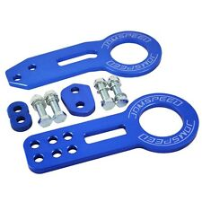 Front Rear Tow Hook Kit  JDMSPEED Billet Aluminum Racing CNC JDM Anodized Blue