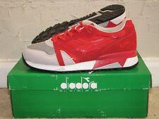 Diadora N9000 NYL OG Ferrari Red / Grey Alaska Mens Size 9.5 NEW 160827-01 C5747