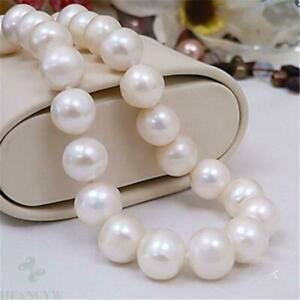11-12mm natural white south sea pearl necklace 16 inch oversized AAA+