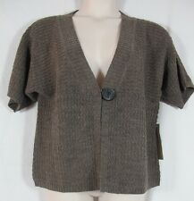 Nomadic Traders Brown Wool Acrylic Blend Single Button Cardigan Sweater XL