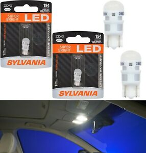 Sylvania ZEVO LED light 194 White 6000K Two Bulbs Interior Dome Replacement Lamp