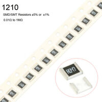 10Pcs 1210 SMD/SMT Resistors ±5% or  ±1% 1/3W -Full Range of Values 0.01Ω to 1MΩ