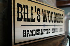 Custom Wooden Signs Carved Wood Rustic Plaque Sign Personalized Workshop Office