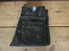 DKNY HUDSON JEANS (28/29x34-LONG) SKINNY DISTRESSED GREY FADED ZIPPER-FLY - Exce