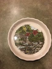 DISCONTINUED! Friendly Village Johnson Brothers Round Baker Quiche Pie Bakeware