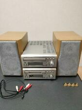 DENON DMD-M50 Compact MD Disc Recorder MDLP Compatible & Speakers japan F/S
