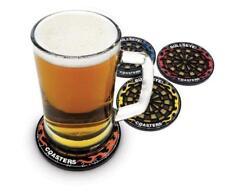 40114 BULLSEYE COASTER SET OF 4 ROUND DART BOARD COASTERS DRINKING NOVELTY