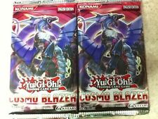 2x Lot YuGiOh Cosmo Blazer 9-Card Booster Pack Factory Sealed English Edition